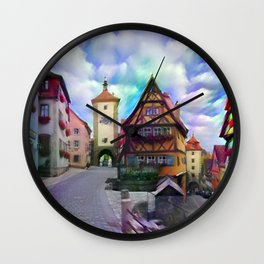 Medieval Rothenburg Wall Clock