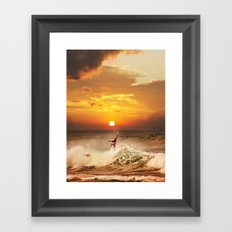 The Art Of Surfing In Hawaii 10 Framed Art Print