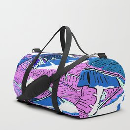 BANANA LEAF PALM PASTEL PINK AND BLUE Duffle Bag