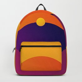 Yellow and Purple 8 (Eight) Backpack