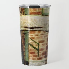 1900 St. Ives Cornwall, The Old Arch, local boy Travel Mug