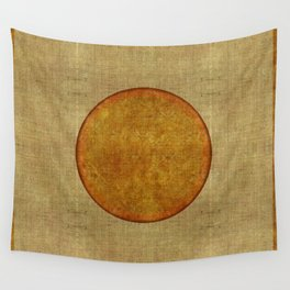 """Golden Circle Japanese Inspiration"" Wall Tapestry"