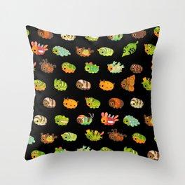Caterpillar - dark Throw Pillow