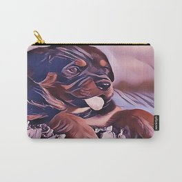 Rottweiler Puppy at the Beach Carry-All Pouch