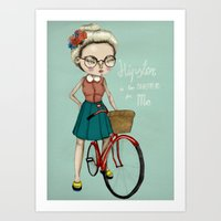 hipster Art Prints featuring Hipster by Maripili