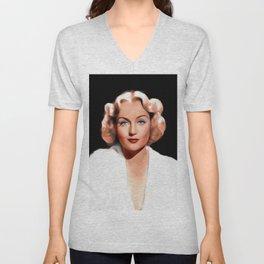 Carole Lombard, Hollywood Legend Unisex V-Neck