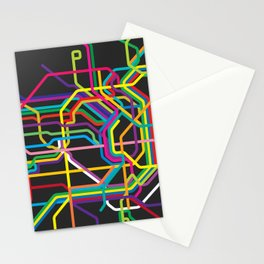 vienna metro map Stationery Cards