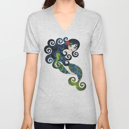 Aquamarine Mermaid Unisex V-Neck