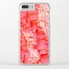 Natural texture.A bark of the old olive tree. Clear iPhone Case