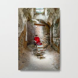 At the Barbershop Metal Print