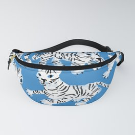 Mystical White Tigers at Play Fanny Pack