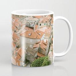 Rooftops of Dubrovnik   Pastel Croatia fine art photography print poster   Wanderlust Europe  Coffee Mug
