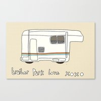 trailer park boys Canvas Prints featuring Trailer Park Love 2 by frithastrickland