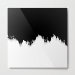 Black And White Abstract Art Metal Print