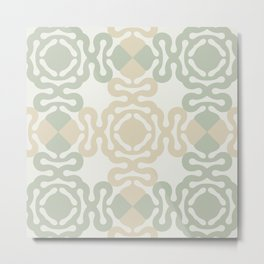 Asian pattern in calm natural shades Metal Print