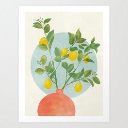 vase branche stillife abstract shapes Art Print