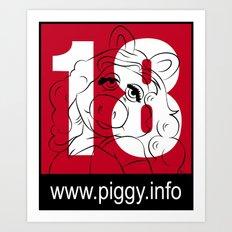 Piggy 18 Art Print