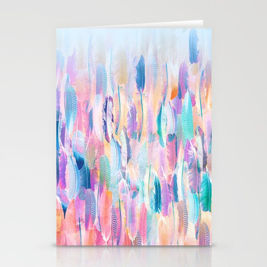 Candy Feathers  Stationery Cards