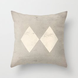 Experts Only Ski Patrol Double Black Diamond Sign Throw Pillow