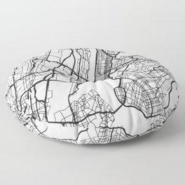 New York City Street Map Floor Pillow
