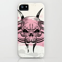 Skull tattoo design iPhone Case