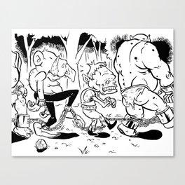 Goblin Chain Gang Canvas Print