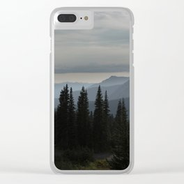 Forest Alpine Clear iPhone Case