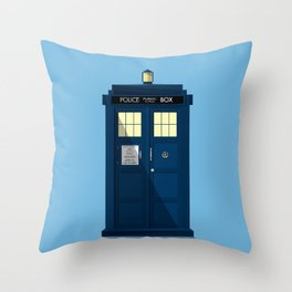 The TARDIS Throw Pillow
