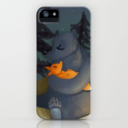 The fox and his foster mum iPhone Case