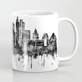 Delhi India Skyline BW Coffee Mug