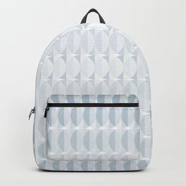 Leaves in the mist - a pattern in ice gray Backpack