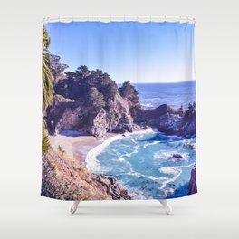 McWay Falls ~ Big Sur, California ~ West Coast Adventures Shower Curtain