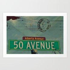 Alberta Avenue - Vintage sign Art Print