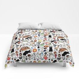 Kawaii Ghibli Doodle Comforters