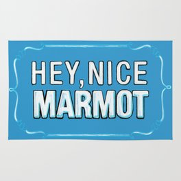 BIG LEBOWSKI- the Dude - Hey, Nice Marmot Rug