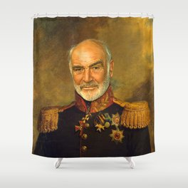 Sir Sean Connery - replaceface Shower Curtain