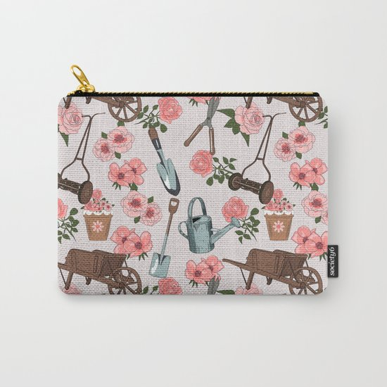 Vintage gardening pattern Carry-All Pouch
