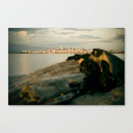 Downtown from the log Canvas Print