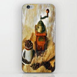 Coffee Grinder and Coffee Cup iPhone Skin