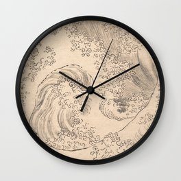 Wave by Katsushika Hokusai 1760–1849, Japanese Wall Clock