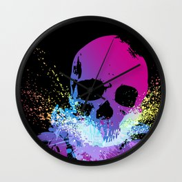 MotoSkull 04 Wall Clock