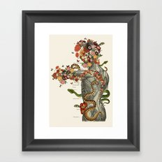 Serpens - Anatomical collage art by bedelgeuse Framed Art Print