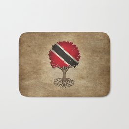Vintage Tree of Life with Flag of Trinidad and Tobago Bath Mat
