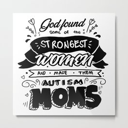 Autism Mom Autistic Awareness Day Asperger Gift Metal Print