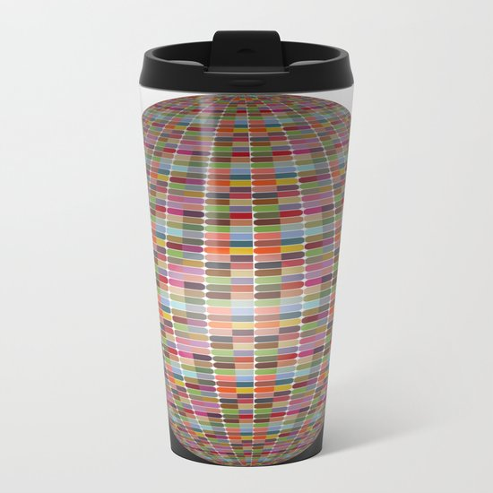 Colorful 3D Ball Metal Travel Mug