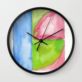 180818 Geometrical Watercolour 1| Colorful Abstract | Modern Watercolor Art Wall Clock