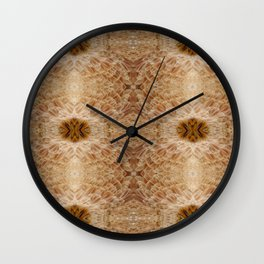 Chicken Feathers Mink Coat Wall Clock