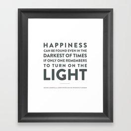 Light - Quotable Series Framed Art Print