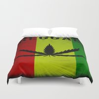 reggae Duvet Covers featuring REGGAE by shannon's art space