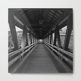 Covered Bridge Interior Metal Print